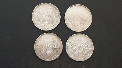 1860, 1861, 1962, and 1895 Mexico 8 Reales