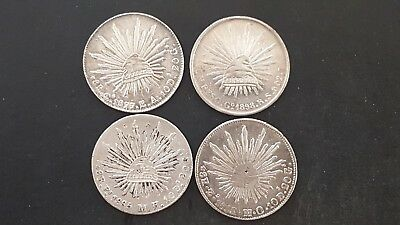 1855, 1877, 1885, and 1898 Mexico 8 Reales