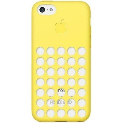 Authentique Officiel Apple IPHONE 5c Silicone Pois Slim Mince Étui Coque Jaune