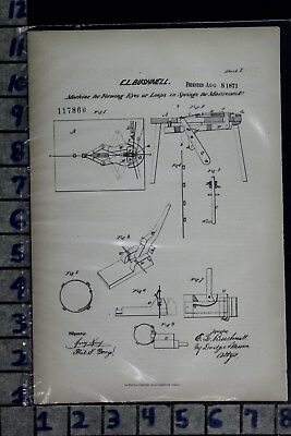 1871 Bushnell Poughkeepsie Ny Furniture Couch Bed Spring Patent Litho 117860