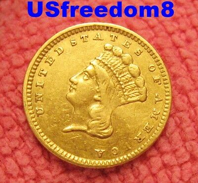 1857 $1.00 Gold Type 3 Rare U.S. Coin Free Shipping