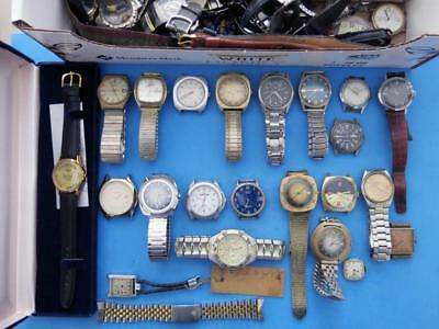 Large Lot Of Vintage And Modern Wristwatches For Parts And Restoration 5 Lbs +