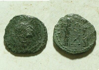 Rare genuine ancient Roman barbaric imitation follis Constantine Victory's Altar