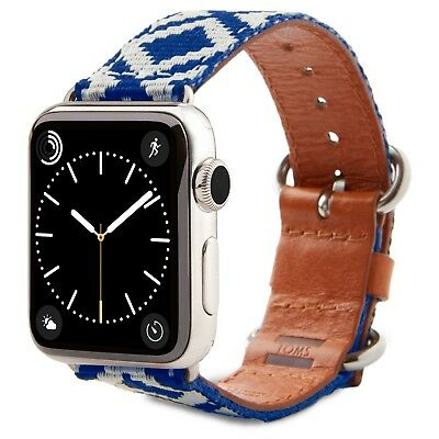TOMS Blue Woven Apple Watch Band 38mm  Brand New !  Blue and White