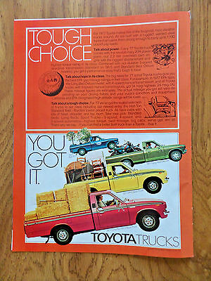 1977 Toyota Pickup Truck Ad  Half-Ton Long Bed Deluxe SR-5 Sport & Long Bed SR-5