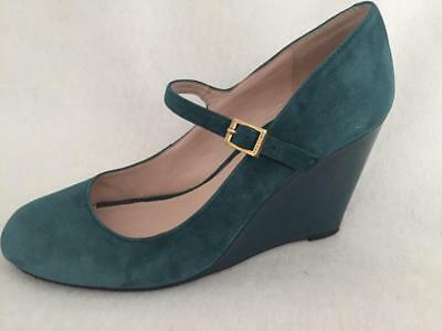 Vince Camuto MAGIE Teal Suede Mary Jane Shoes—Wedge—8.5