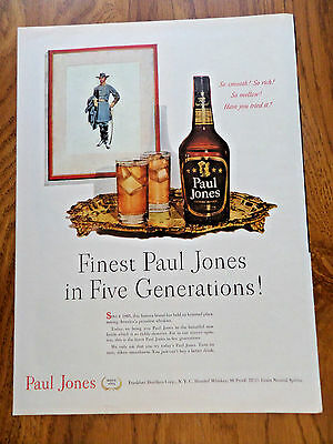 1951 Paul Jones Whiskey Ad  Five Generations