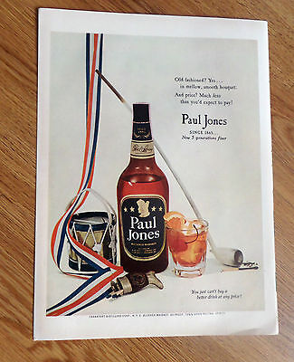 1953 Paul Jones Whiskey Whisky Ad