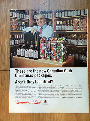 1964 Canadian Club Whiskey Ad New Christmas Packages