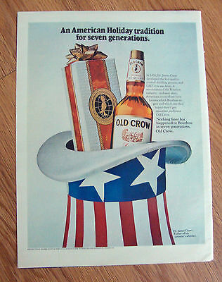1969 Old Crow Whiskey Ad An American Holiday Tradition for Seven Generations