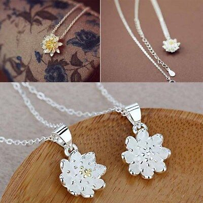Elegant Flower Ladies Lotus Necklaces For Women Collar Choker Jewelry Necklace
