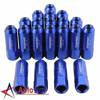 20pcs Blue M12X1.5 60MM Aluminum Tuner Racing Lug Nuts For Acura Honda Toyota