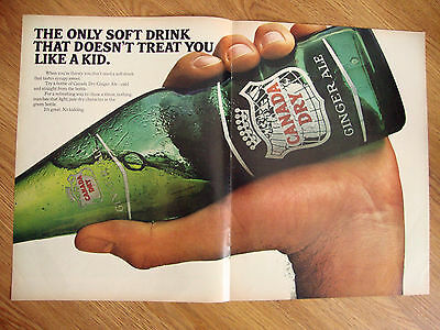 1966 Canada Dry Ad Soft Drink Doesn't Treat Like Kid