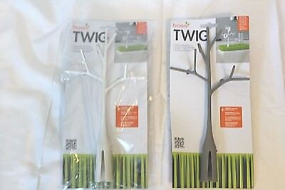 Boon Twig Grass and Lawn Drying Rack Accessory Gray & White 2 Pack NEW  20% Off