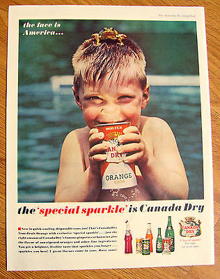 1962 Canada Dry Soda Pop Drink Ad   The Special Sparkle