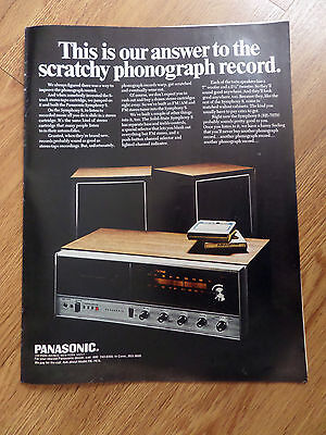 1969 Panasonic Stereo Cartridge FM/AM Ad Symphony 8