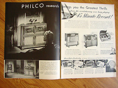1948 Philco Phonograph Radio Ad  Shows 9 Models