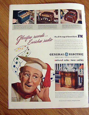 1947 GE General Electric Radios Phonographs Ad  Professor Kay Kyser Model 417