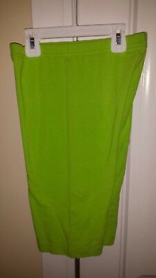 Women's Lime Green VTG 80's shorts by The Body Co Size XL; Rare!