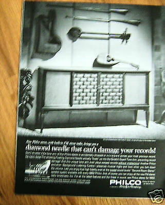 1962 Philco  Stereophonic HI-FI Ad Model 1731-MB