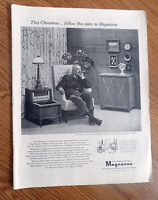 1955 Magnavox TV Television Radio Phonograph Ad Ezio Pinza Broadway Star