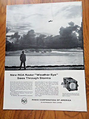 1955 RCA Radio Ad Mapping Radar Weather Eye