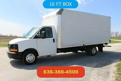 2011 GMC Savana 3500 16ft box truck delivery cargo moving ramp Used