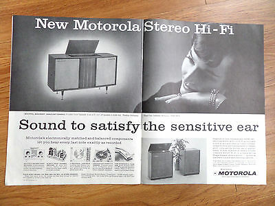 1959 Motorola Stereo HI-FI Phonograph Ad  Sound to Satisfy the Sensitive Ear