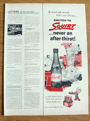 1955 Squirt Soda Ad   Sweet Soft Drinks