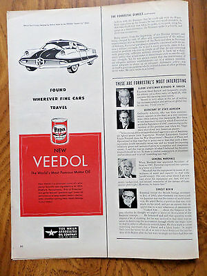 1951 Veedol Motor Oil Ad Special Sport Coupe  by Arbib