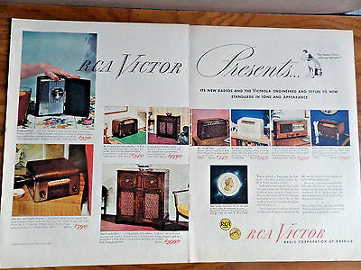 1945 RCA Victor Radio Ad Shows 9 Models