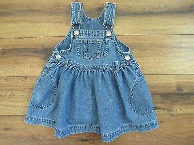 Baby GAP  Girls Bib Overall Jean Skirt ~ Adjustable Straps ~ Size M (6-12 mos)