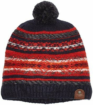 (TG. Taglia unica) Rosso (Dull Red 4245) TOM TAILOR Jacquard Hat with Pom, Cuffi