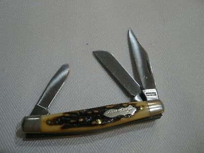 """Vintage Schrade Usa 834Uh Uncle Henry Pocket Knife, 3 1/4"""" Closed, Snappy! G8503"""