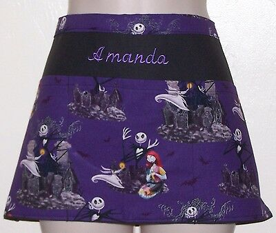 waitress waiter waist apron NIGHTMARE BEFORE CHRISTMAS 3 pockets