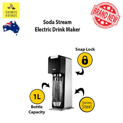 Soda Stream POWER Drink Maker | 100% GENUINE | AUTOMATIC Electric 2 Yr Warranty