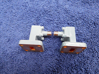 One Pair of Narda Waveguide-to-Coax Adapters, WR-42 to 3.5 mm (f),18-26.5 GHz