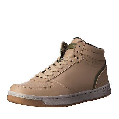 GAS Leather Sneakers EU 41 / UK 7.5 Dirty Look Lace-Up Mid Top GAM818040