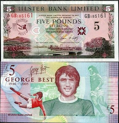 Northern Ireland 5 Pounds 2006 George Best P 339 Unc Nr
