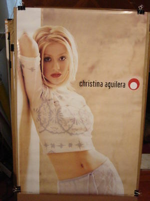 "CHRISTINA AGUILERA - GENIE IN A BOTTLE 1999 PROMO POSTER 23 x 35"" OUT OF PRINT!!"