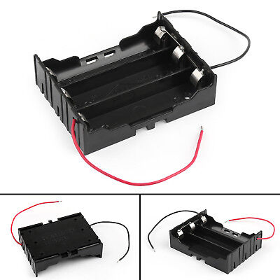 3 Cell 18650 Parallel Battery Holder Case For 3.7V Battery With Leads AU