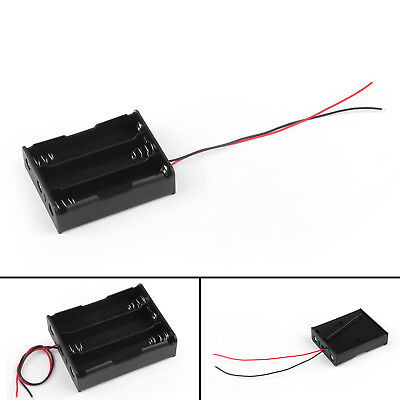 3 Cell 18650 Series Battery Holder Storage Case With Wire Leads 11.1V B AU