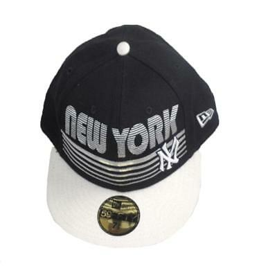 Baseball Cap New York Yankees Era 59 Fifty Cotton Blue Snapback Stretch Fit Hat