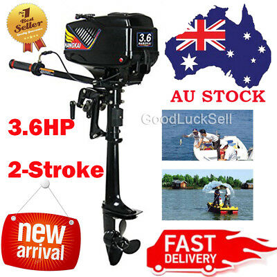 New Design Hangkai Water Cooled 2 Stroke 3.6HP Outboard Motor Petrol Engine AUS