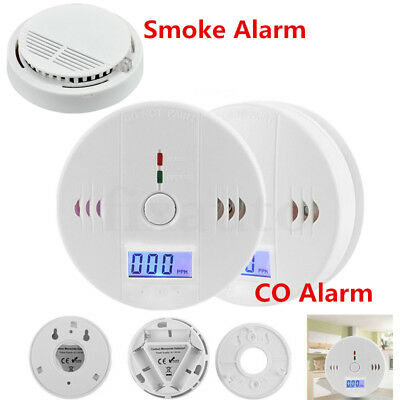 1X 2X LCD CO Carbon Monoxide Detector Poisoning Gas Warning Alarm Sensor Monitor
