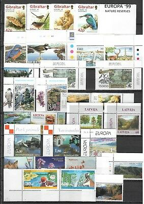 s22448) 1999 EUROPA  CEPT MNH**  all complete sets