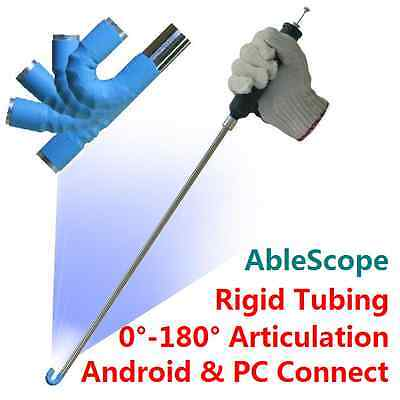 AbleScope USB Borescope Articulating 0 to 180 degree Adjustable-Giving AirBox