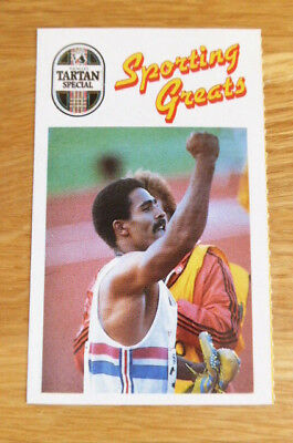 Scarce Younger's Sporting Greats Card Daley Thompson Athletics 1989