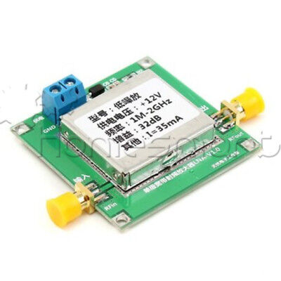 0.01-2000MHz 2Ghz 32dB Broadband RF Low Noise Amplifier LNA  UHF VHF HF AHS