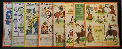 Vintage Paper Dolls: Kellogg Town Kut-Outs c. 1930s Original Cereal Box Promos